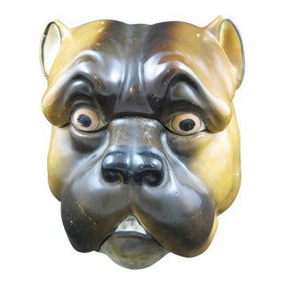 English Staffordshire Bulldog Covered Porcelain Jar
