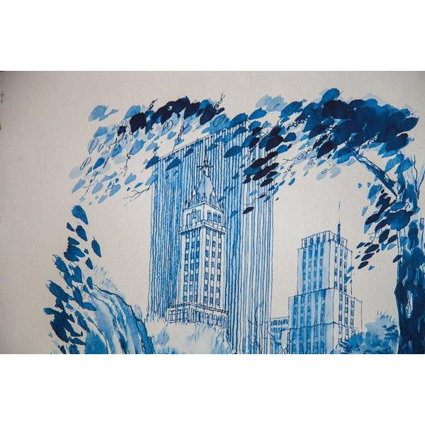 Blue Minimalistic Central Park NYC Lithograph 3 - Image 6 of 6