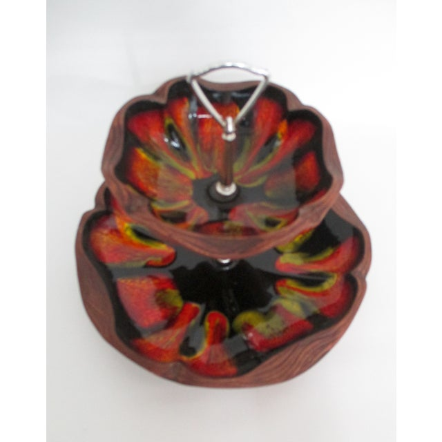 Mid-Century Two Tiered Server Dish - Image 6 of 8