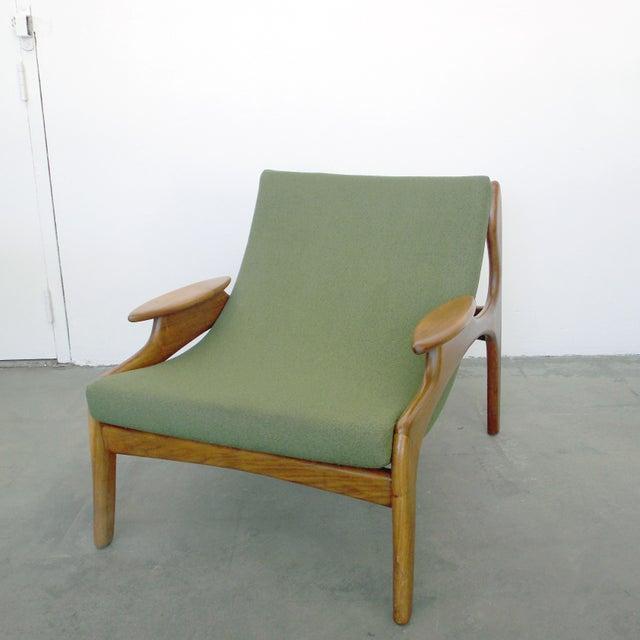 Italian Wood Sling Lounger - Image 2 of 9