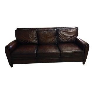 Randal Allan Leather & Goose Down Sofa