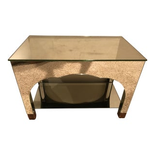 Vintage Mirrored Accent Table
