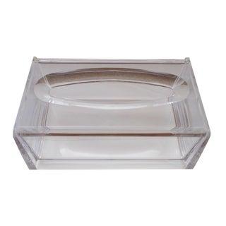 Modernist Lucite Tissue Box