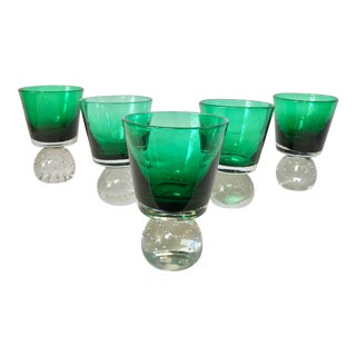 Erickson Emerald Green Goblets - Set of 5