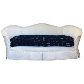 Vintage Ticking & Indigo Sofa