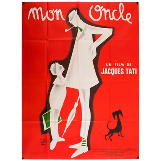 Jacques Tati 'Mon Oncle' French Film Poster