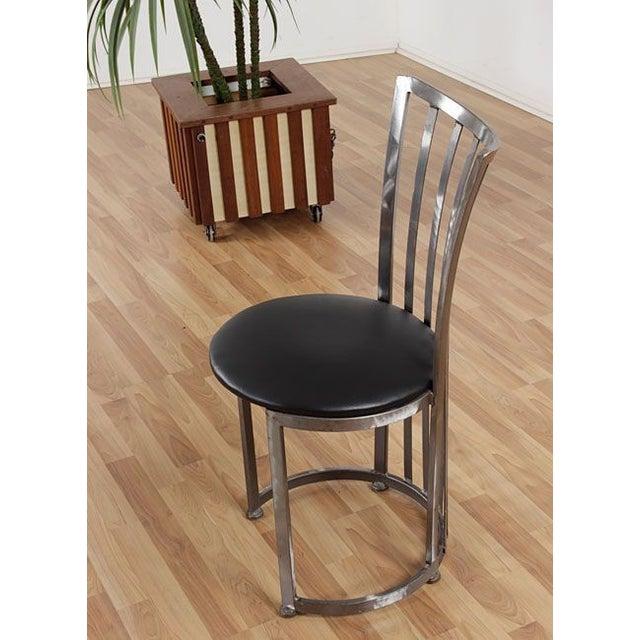 Mid century modern shaver howard bistro set chairish for Mid century bistro table