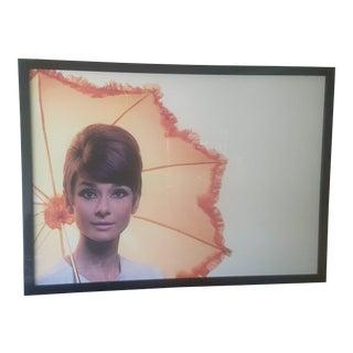 Framed Audrey Hepburn Poster