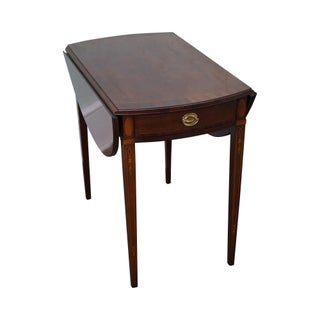 Federal Style Mahogany Inlaid Drop Leaf Pembroke Table