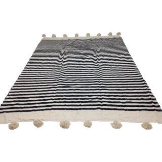 Make & Model Moroccan Striped Pom Pom Blanket