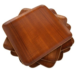 Mid-Century Teak Trays - Set of 7