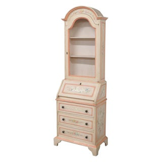 French Style Painted Secretary Desk