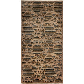 """New Arts & Crafts Hand Knotted Area Rug - 5'2"""" x 10'2"""""""