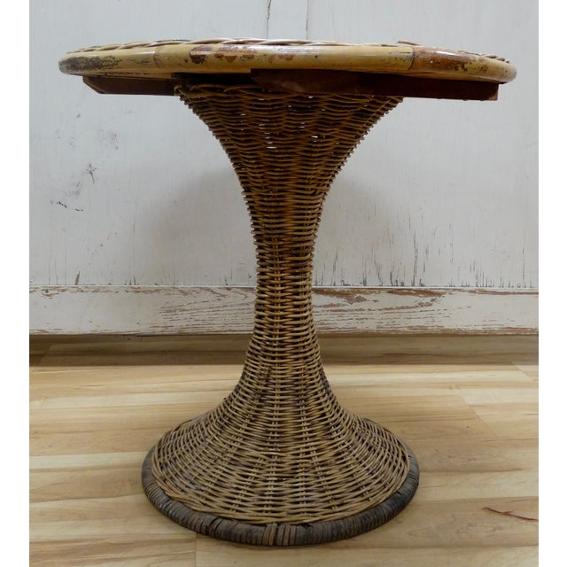 Wicker Accent Table - Image 4 of 4