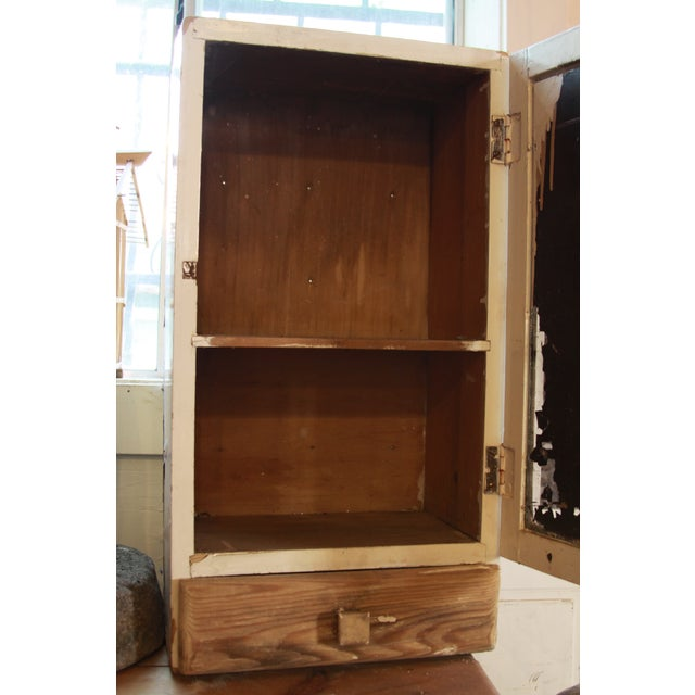 Image of Vintage Medicine Cabinet With Mirror & Drawer