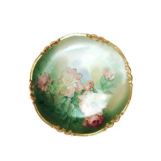 Large French Charger Porcelain Gilt Limoges