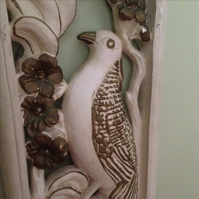 Mid Century Bird & Flower Wall Hanging - Image 7 of 11