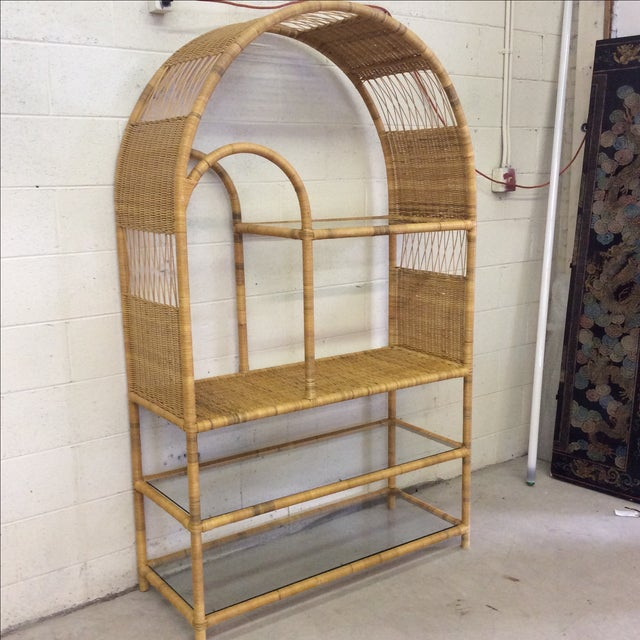 Vintage Wicker Arched Etagere Chairish
