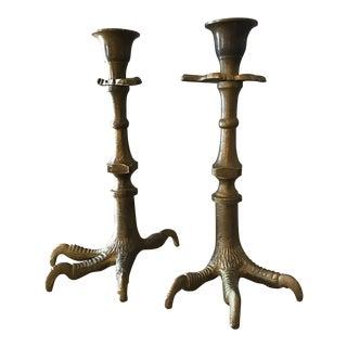 Talon Candlestick Holders - A Pair
