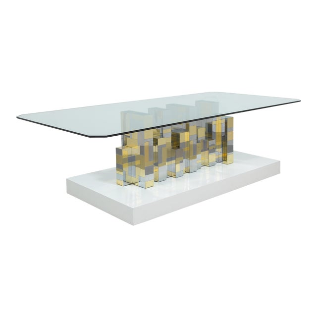 A Paul Evans Cityscape Pedestal Dining Table Base 1970s - Image 1 of 10
