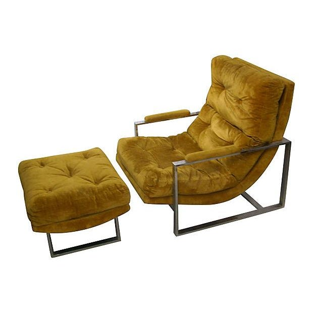 Image of Milo Baughman-Style Tufted Lounge Chair