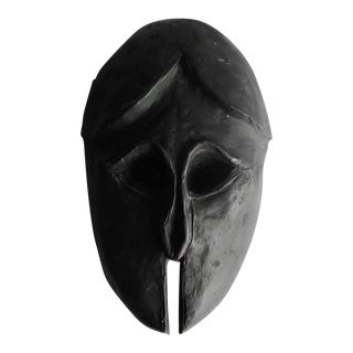 Handcrafted Black Ceramic Mask