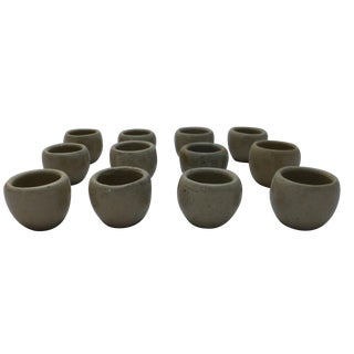 Vintage Japanese Pottery Sake Cups - Set of 12