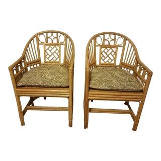 Brighton Pavilion Style Rattan Chairs - a Pair