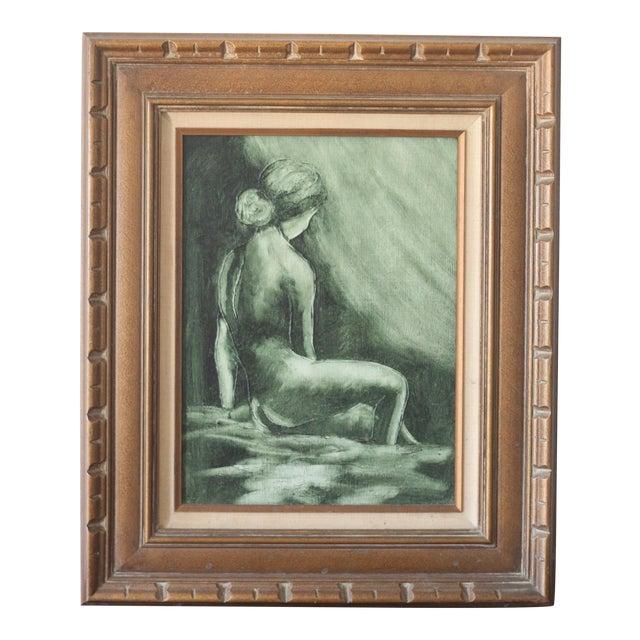 Vintage Mid-Century Nude Woman Portrait - Image 1 of 5