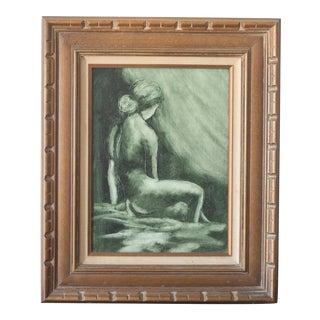 Vintage Mid-Century Nude Woman Portrait