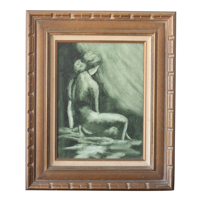 Image of Vintage Mid-Century Nude Woman Portrait