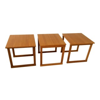 Kai Kristiansen Teak Nesting Tables - Set of 3