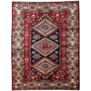 """New Traditional Hand Knotted Area Rug - 4'4"""" x 5'6"""""""