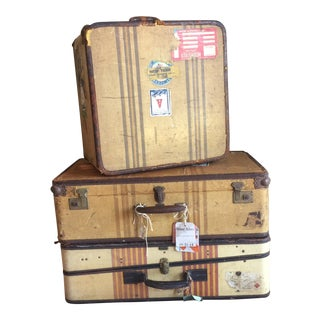 Vintage Luggage Set - Set of 3