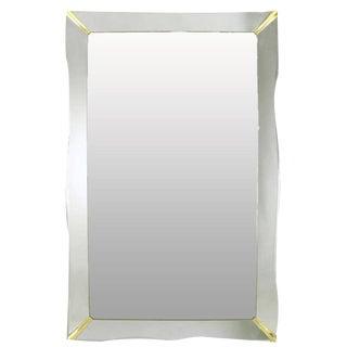 "60"" 1940s Era Art Deco Scalloped Edge Mirror Framed Mirror"
