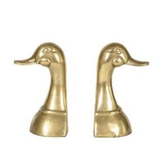 Brass Duck Head Bookends