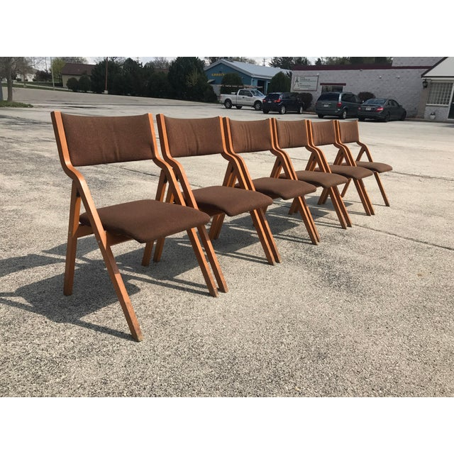 Mid-Century Modern Folding Chairs - Set of 6 - Image 4 of 8