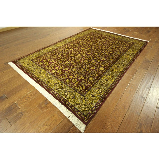 "Suzani Collection Oushak Floral Rug - 6'2"" x 8'10"" - Image 2 of 10"