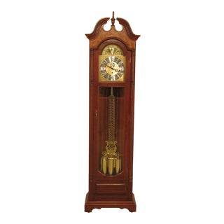 Seth Thomas Cherry Tall Case Grandfather Clock