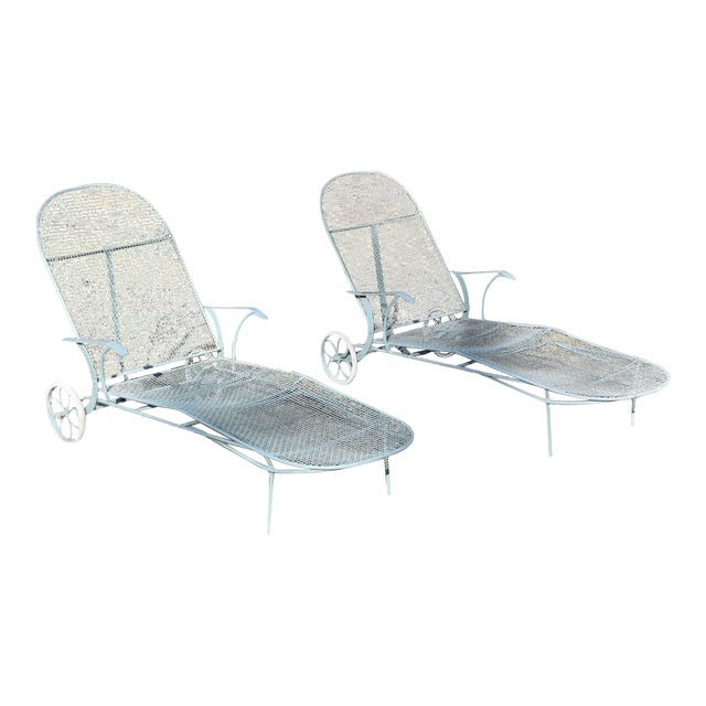 Russell Woodard Sculptura Patio Chaise Lounges - A Pair - Image 1 of 11