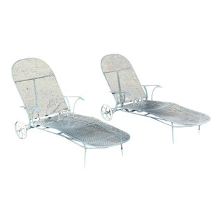 Russell Woodard Sculptura Patio Chaise Lounges - A Pair