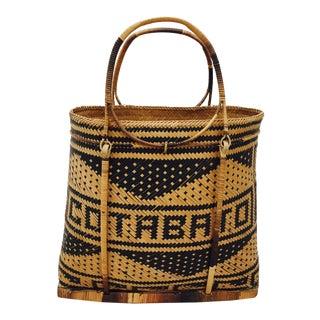 Vintage Cotabato City Woven Souvenir Bag