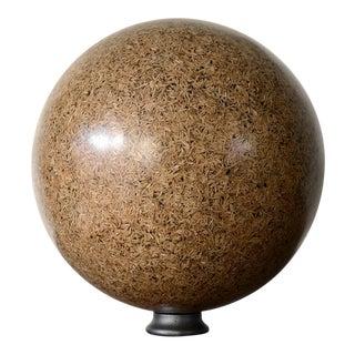 Rice Husk Lucite Sphere Sculpture