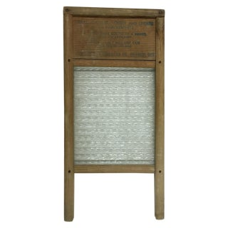 Vintage Home Aide Wood & Glass Washboard