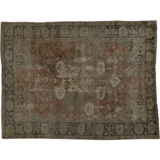 "Distressed Vintage Turkish Rug - 4'1"" x 5'4"""