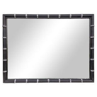 Black & Silver Faux Bamboo Horizontal Mirror