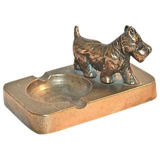 1920s Brass Scottish Terrier Ashtray