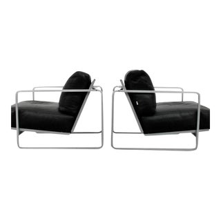 Pair of Zonatta Leather Lounge Chairs by Alfredo W. Häberli & Christophe Marchand