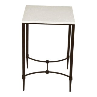 Mismatched Fuller Side Table With White Marble