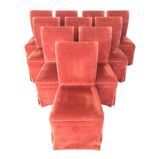 Luxurious Dessin Fournir Werth Contemporary Red Dining Chairs - Set of 10 - Image 1 of 7